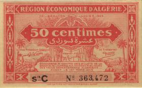 Algerien / Algeria P.097a 50 Centimes L.1944 (2)
