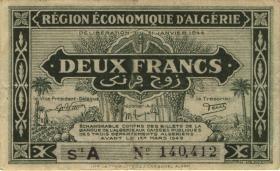 Algerien / Algeria P.099 2 Francs L.1944 (3+)