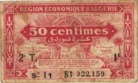 Algerien / Algeria P.100 50 Centimes L.1944 2. Ausgabe (4)