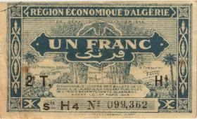 Algerien / Algeria P.101 1 Franc L.1944 2. Ausgabe (2)