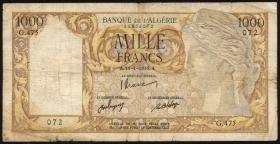 Algerien / Algeria P.104 1000 Francs 1948 (4)