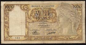 Algerien / Algeria P.107a 1000 Francs 1950 (5)