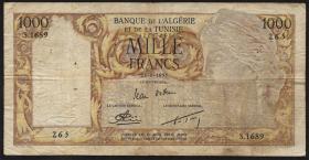 Algerien / Algeria P.107b 1000 Francs 1958 (4)