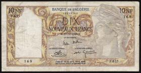 Algerien / Algeria P.119a 10 Neue Francs 1960 (3)