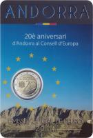 Andorra 2 Euro 2014 Beitritt zu Europarat im Blister