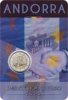 Andorra 2 Euro 2015 25 Jahre Zollunion im Blister