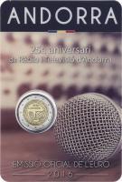 Andorra 2 Euro 2016 25 Jahre Öffentlich-rechtlicher Rundfunk im Blister