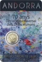 Andorra 2 Euro 2018 70 Jahre Deklaration der Menschenrechte im Blister