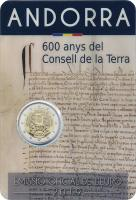 Andorra 2 Euro 2019 600 Jahre Consell de la Terra im Blister