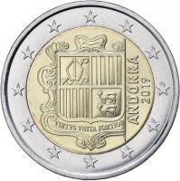 Andorra 2 Euro Kursmünze 2019