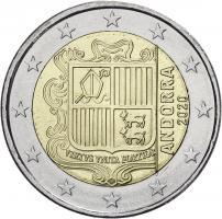 Andorra 2 Euro Kursmünze 2020