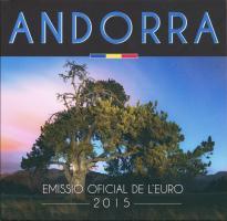 Andorra Euro-KMS 1 Cent - 2 Euro 2015 im Folder