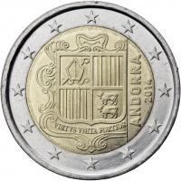 Andorra 2 Euro Kursmünze 2014