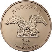 Andorra Kupfer-Unze 1 ct. 2014