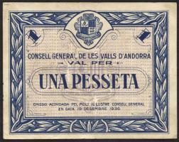 Andorra P.01 1 Pesseta 1936 (3+)