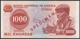 Angola P.113s 1000 Kwanzas 1976 Specimen (1)