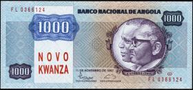 Angola P.124 1000 Novo Kwanza (1991) (1)
