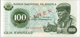 Angola P.111s 100 Kwanzas 1976 Specimen (1)