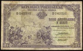 Angola P.071 2 1/2 Angolares 1948 (4)