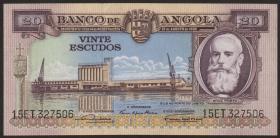 Angola P.087 20 Escudos 1956 (1/1-)