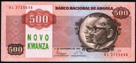 Angola P.123 500 Novo Kwanza (1991) (1)