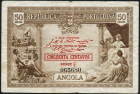Angola P.063 50 Centavos 1923 (3-)