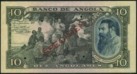 Angola P.078s 10 Angolares 1946 Specimen (1-)