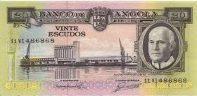 Angola P.092 20 Escudos 1962 (2+)