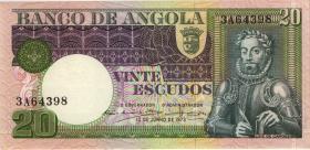 Angola P.104 20 Escudos 1973 (1)