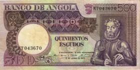 Angola P.107 500 Escudos 1973 (3)