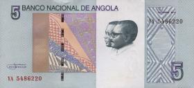 Angola P.neu1 5 Kwanzas 2012 (2017) (1)