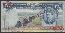 Angola P.089s2 100 Escudos 1956 Specimen (2)