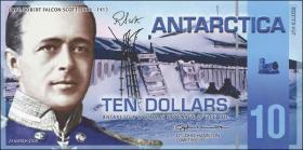 Antarctica 10 Dollars 2009 Polymer