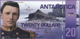Antarctica 20 Dollars 2008 Polymer (1)