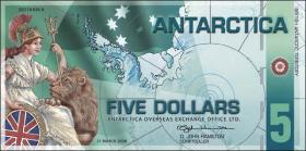 Antarctica 5 Dollars 2008 Polymer (1)