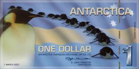 Antarctica 1 Dollar 2007 Polymer (1)