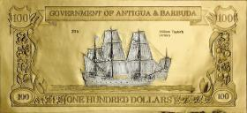 Antigua & Barbuda P.CS4 100 Dollars Gold/Silber-Banknote William Taylor