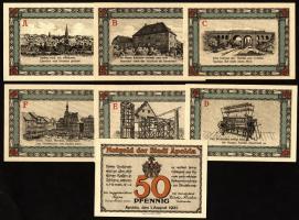 Notgeld Apolda 6 x 50 Pfennig