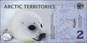 Arctic Territories 2 Dollars 2010 Polymer  (1)