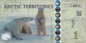 Arctic Territories 1 1/2 Dollars 2014 Polymer (1) Eisbären