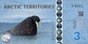 Arctic Territories 3 1/2 Dollars 2014 Polymer (1)