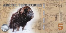 Arctic Territories 5 Dollars 2012 Polymer (1)