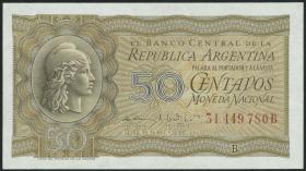 Argentinien / Argentina P.261 50 Centavos (1951) (1)