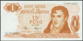 Argentinien / Argentina P.287 1 Peso (1970-73) (1)
