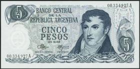 Argentinien / Argentina P.288 5 Pesos (1971-73) (1)