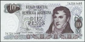 Argentinien / Argentina P.289 10 Pesos (1970-73) (1)