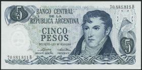 Argentinien / Argentina P.294 5 Pesos (1974-76) (1)