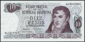 Argentinien / Argentina P.295 10 Pesos (1973-76) (1)
