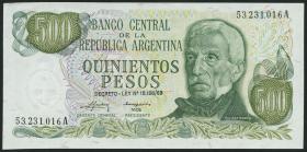 Argentinien / Argentina P.298a 500 Pesos (1974-75) (1)