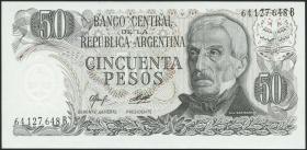 Argentinien / Argentina P.301a 50 Pesos (1976-78) (1)